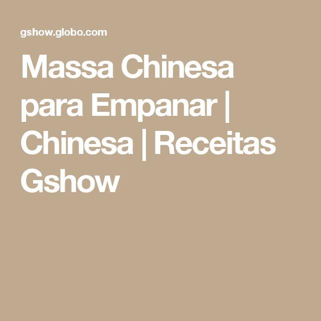 Massa Chinesa para Empanar | Chinesa | Receitas Gshow