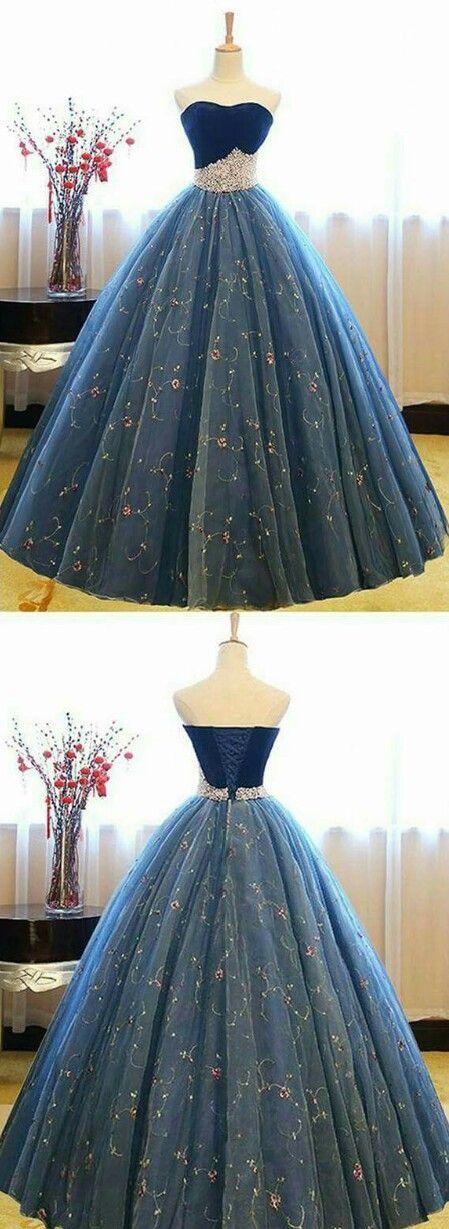 Vestido azul beautiful! Lindo!