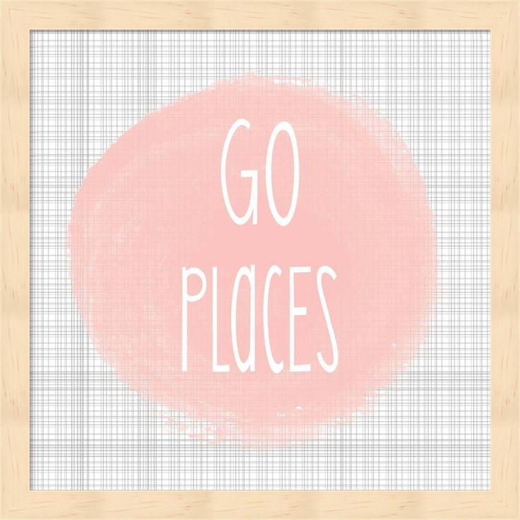Alli Rogosich 'Go Places - Blush Pink' Framed Art