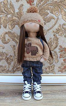 Выкройка куклы Большеножки (с размерами)
