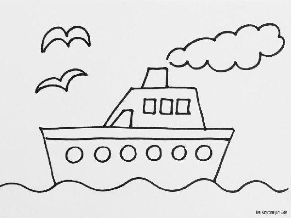 boot kleurplaat peuter