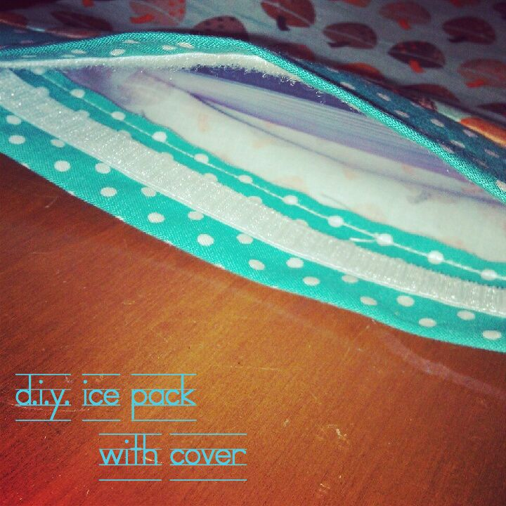 D.I.Y. Ice Pack With Cover - need this... Discovered I have plantar fasciitis... Boo!