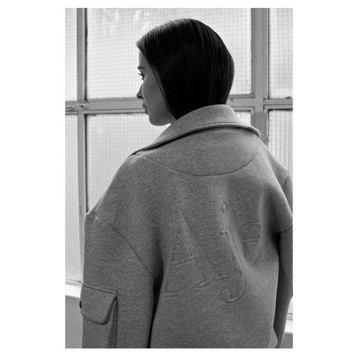 Eleanor Pendleton wears the Reynolds Jacket #AJETHELABEL #AJE #ELEANORPENDLETON #MBFWA #STREETSTYLE #STYLE #FASHION #BOMBER #JACKET #LOGO