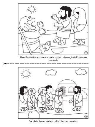 Die Heilung Des Blinden Bartimäus Malbuch Ub Bartimäus Religion
