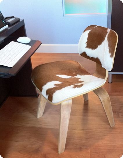 How Amazing Is This Cowhide Desk Chair??? I LOVE IT!