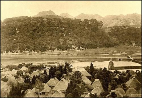 A view of the northern village of Toguchi on Okinawa in 1925