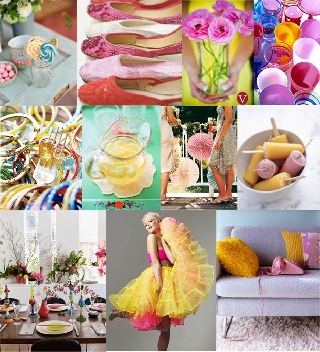 80's Pink & Yellow, Inspiration Board