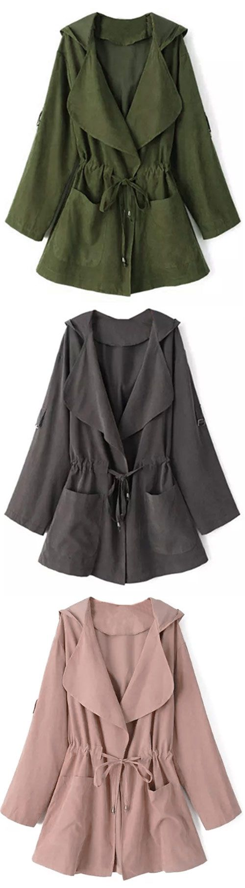 $24.99 for your must-have & easy return! Being your own knight, girls! The hooded coat with long sleeve and drawstring and open front looks cute, bright and brave! One glance, and you know it should belong to you. Get more surprise at Cupshe.com !