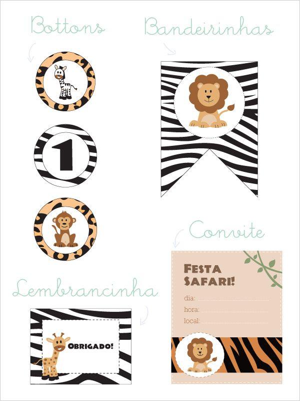 Festa para imprimir: Tema Safari « Constance Zahn – Blog sobre bebês e crianças para mães antenadas