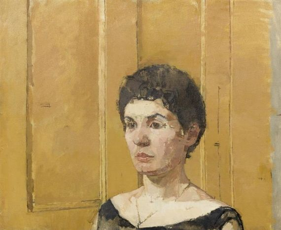 GLORIA By Euan Uglow Dimensions: 19 3/4 x 24 1/8 in. (50.2 x 61.3 cm.) Medium: oil on linen Creation Date: 1958