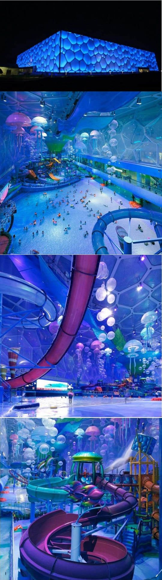 Used during Beijing Olympics, now a waterpark...
