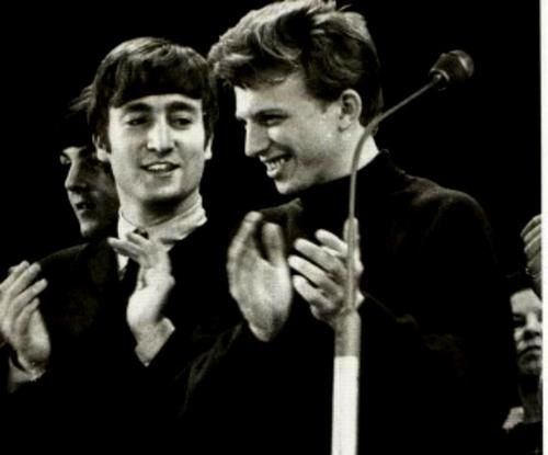 John Lennon and Tommy Steele (The Royal Variety Performance November 1963)