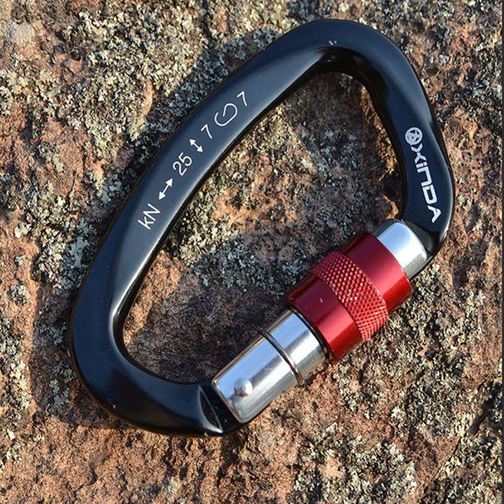 XINDA 25KN Professionale Moschettone D Forma di Sicurezza Master Lock All'aperto Attrezzature Arrampicata Fibbia