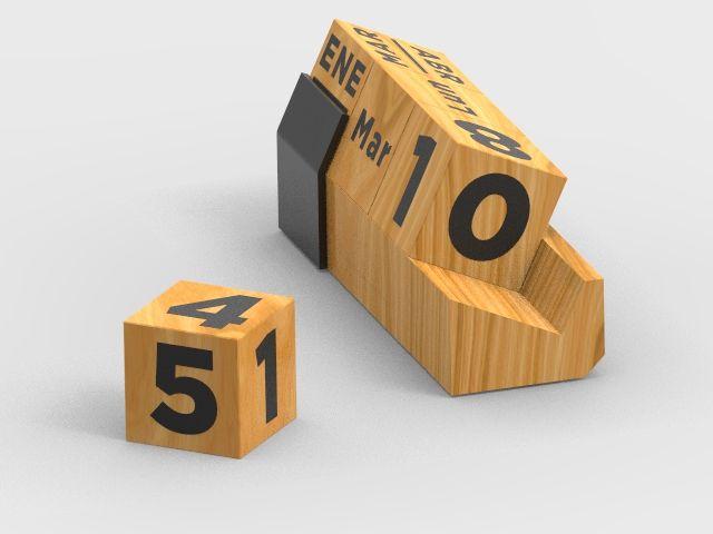 Calendario perpetuo en madera-acrílico - JS Promocionales SAS