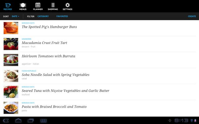 Five Best Meal Planning Apps pepperplate