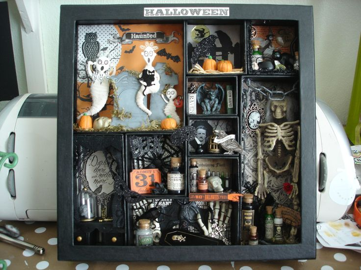 Halloween Shadow box made by me.
