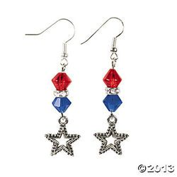 4+th+of+july+diy+earrings | Adult Craft Night: 4th of July Earrings with Kathy Sargent | Traverse ...