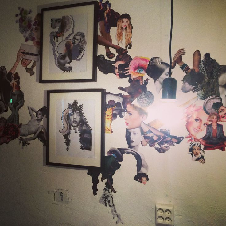 Collage installation by Justine Eikaas | #art #collage #installation #illustration