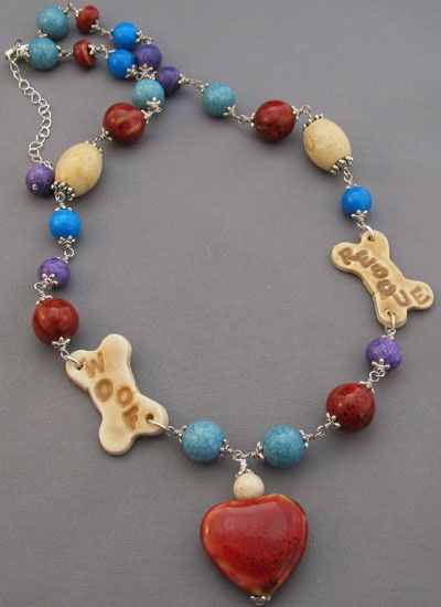 Bark about dog rescue necklace! Handmade by For Love of a Dog Jewelry & Gifts: Gifts Ideas, Jewelry Gifts