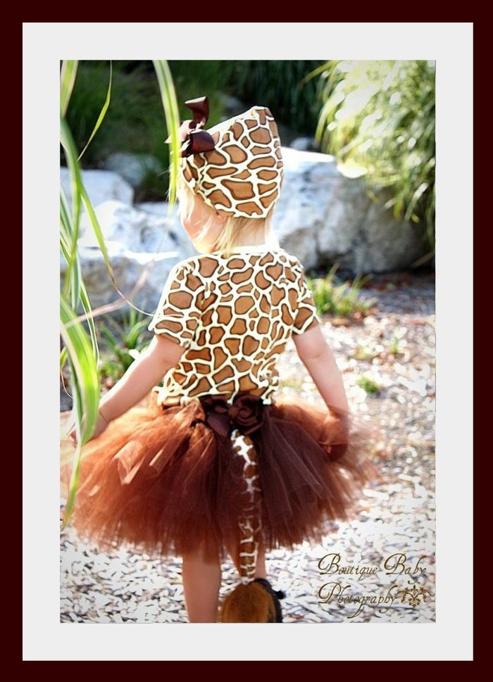 Halloween!!  Custom Boutique Giraffe tutu set...Birthday parties...dress up...Halloween costume..Photo shoot...size  12- 18 months 2t 3t 4t 5t 6. $85.00, via Etsy.
