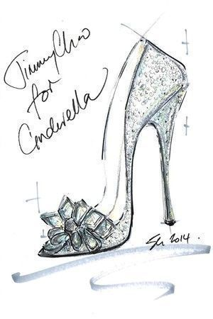 Cinderella's glass slippers: reimagined by famous shoe designers such as Jimmy Choo, Manolo Blahnik, Christian Louboutin, and more. #shoes #jimmychoocinderella