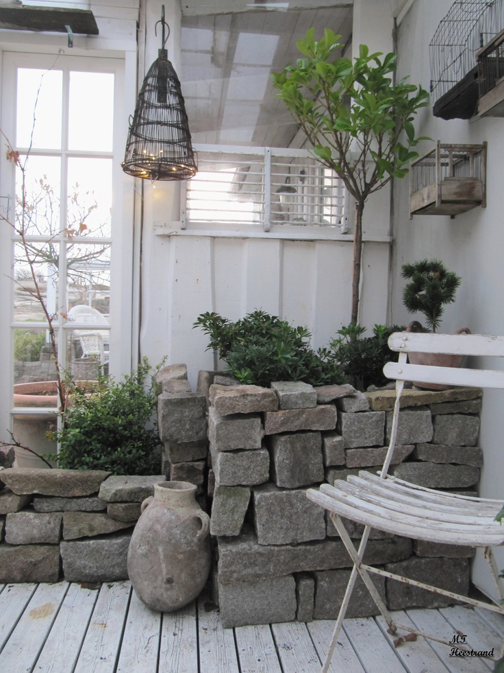 Stacked stone planters