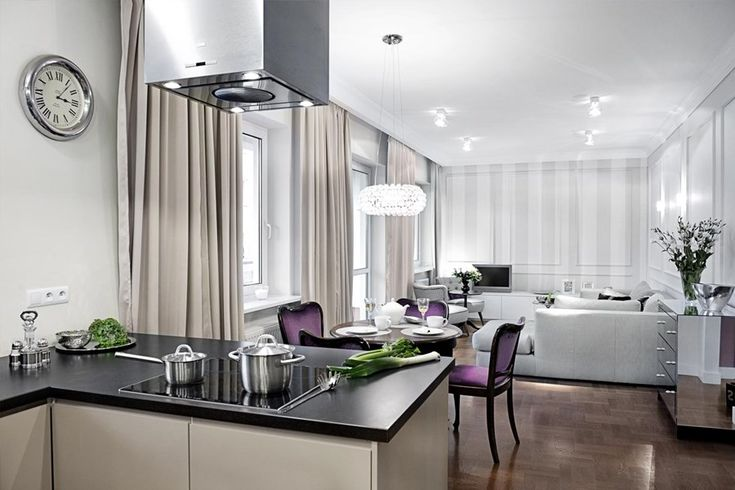Kuchnia z salonem face to face - Architektura, wnętrza, technologia, design - HomeSquare