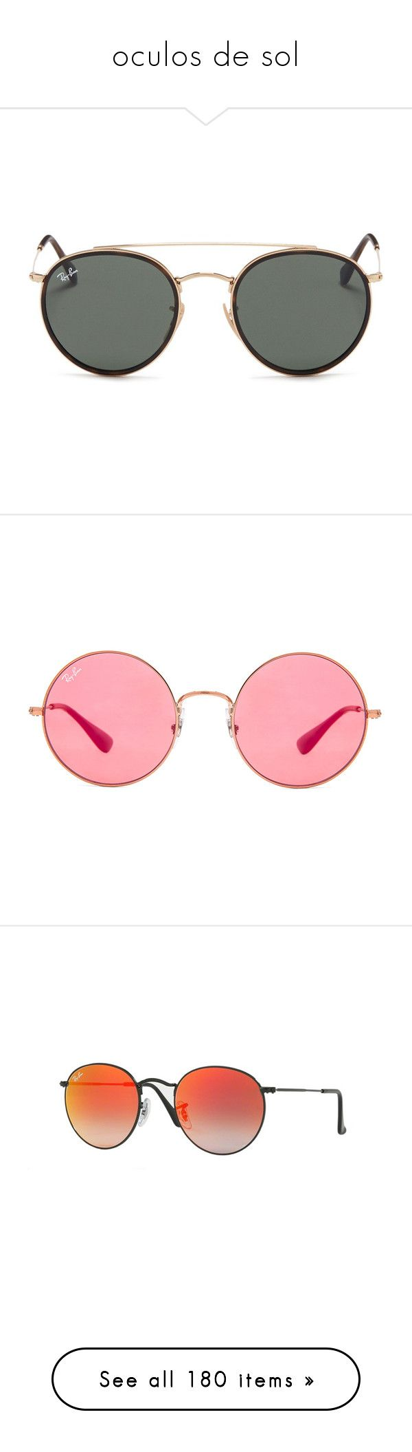 """""""oculos de sol"""" by dudas2pinheiro ❤ liked on Polyvore featuring accessories, eyewear, sunglasses, óculos, metallic, sports sunglasses, round glasses, round tortoiseshell glasses, round tortoise sunglasses and metal sunglasses"""