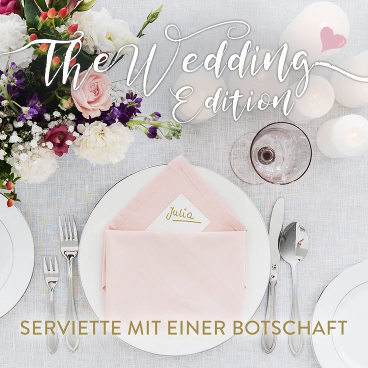 The Wedding Edition: DIY Servietten
