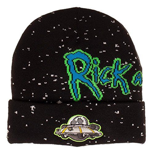 23b6cf92685 Bioworld Adult Swim Rick And Morty Spaceship Jacquard Cuff Beanie ...