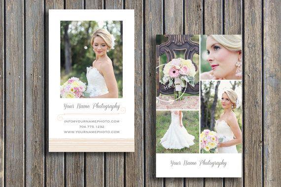 Hochzeit Fotograf Visitenkartenvorlage - vertikale Visitenkarten - Fotokarten - Photoshop Designvorlagen für Fotografen - c0034