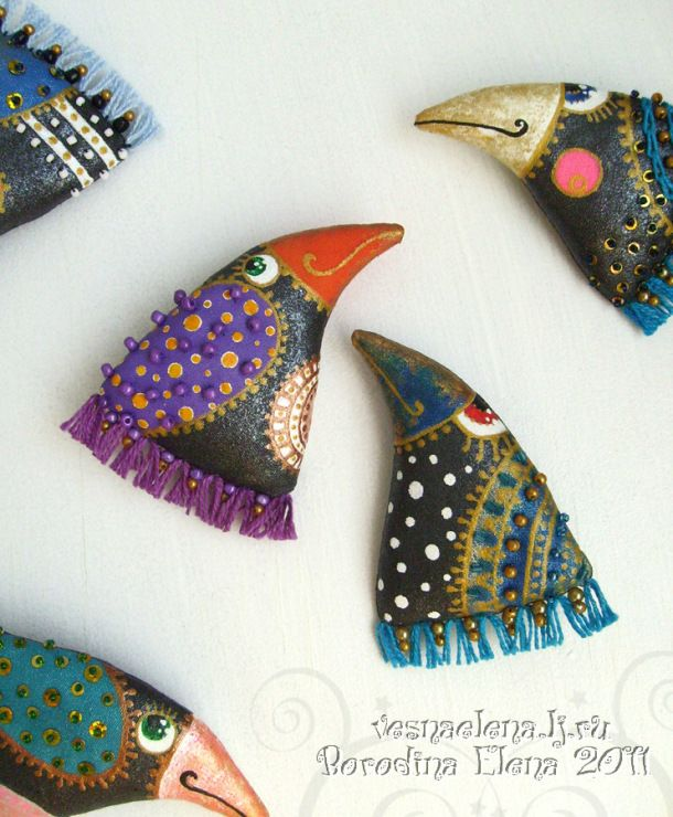 Gallery.ru / Photo # 5 - Brooches Textile and leather - Vesnaelena