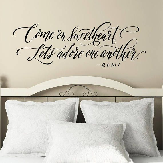 bedroom wall decor romantic quote wall decal come on on wall stickers for bedroom id=38071
