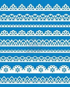 Templates for piping lacy edges