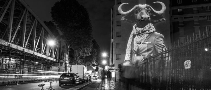 Ephemeral graffiti of fashionista animals grace the streets of Paris - PLAIN Magazine