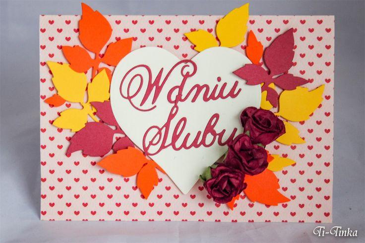 Jesienna kartka na ślub