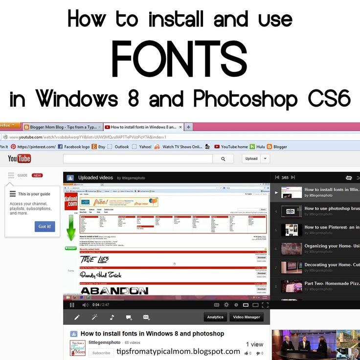 Adding fonts to photoshop cs6