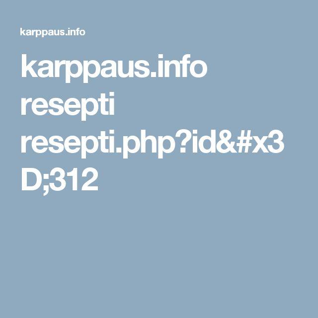 karppaus.info resepti resepti.php?id=312
