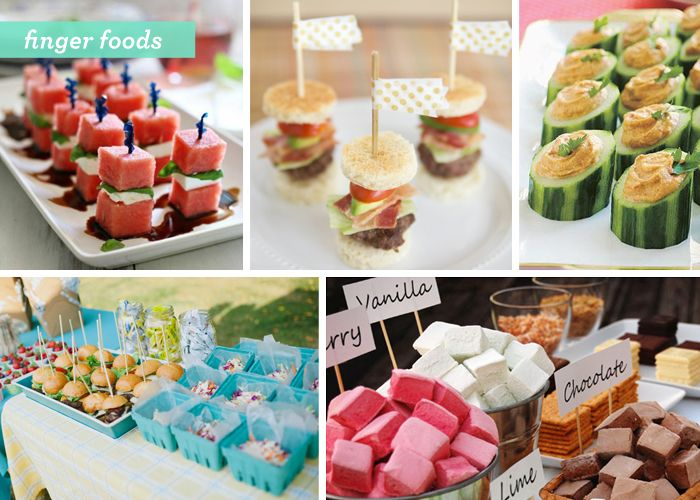 Backyard Gone Glam 3 Summer Party Food Ideas Finger Foods Pinterest Bbq And