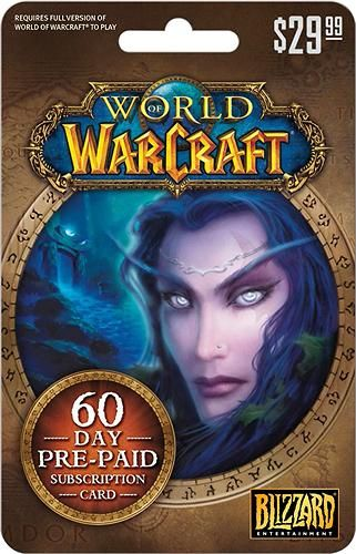 $29.99 World of Warcraft 60-Day Subscription Card | giftcardshunters.com