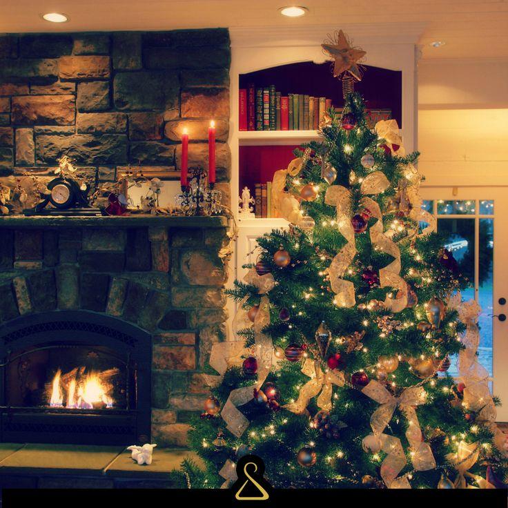 Albero, Natale, Stile, Fashion, Chic, Oro, Luci