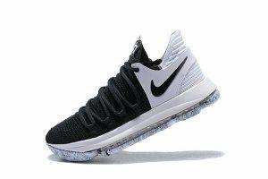 e187b55e83c Men s Nike KD 10 X White Black 897815 008 boys Basketball Shoes ...