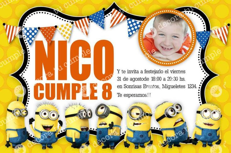 Tarjetas De Cumpleaños De Minions Para Protector De Pantalla 8 en HD Gratis TARJETAS DE