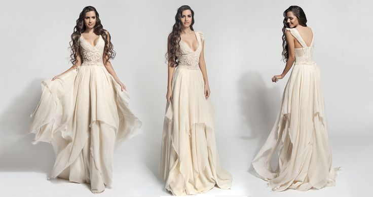 """Hellenic Vintage Bridal Collection from Atelier Zolotas Greece """"Cloe"""""""