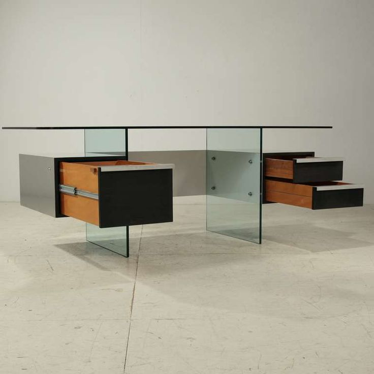 Elegant Minimalist Desk by French Designer Xavier Marbeau   From a unique collection of antique and modern desks at https://www.1stdibs.com/furniture/storage-case-pieces/desks/