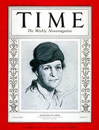 Frances Perkins During her term as Secretary of Labor, Perkins executed many aspects of the New Deal, including the Civilian Conservation Corps, the Public Works Administration and its successor the Federal Works Agency, and the labor portion of the National Industrial Recovery Act. With the Social Security Act she established unemployment benefits, pensions for the many uncovered elderly Americans, and welfare for the poorest Americans.