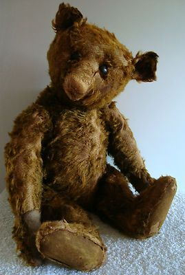 RARE antique early Steiff brown humped mohair teddy bear 1904-1908, 20 ...