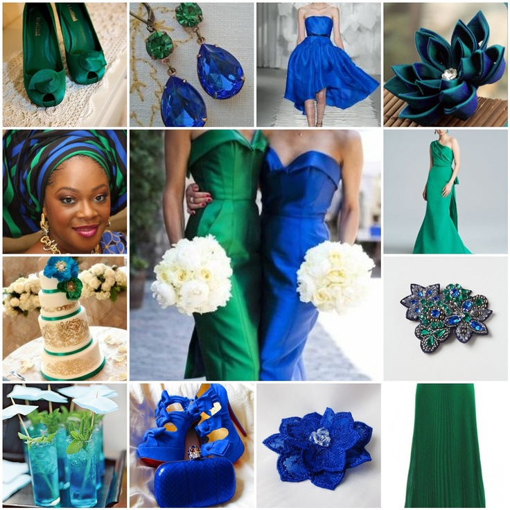 Colour Crush Emerald Green With Pink: Wedding Colors:Emerald And Sapphire