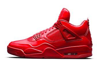 La Nike Air Jordan 11LAB4 Red utilizza elementi di una Air Jordan 11 dislocandoli sul layout di una Air Jordan 4. E' una sneaker dalla tomaia interamente in pelle lucida (elemento che subito fa pensare ad una 11) con suola ed intersuola in full-red.
