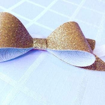 Cheeki Babi   Accessories   Hair Accessories   Glitter bow headband - Handmade Emporium
